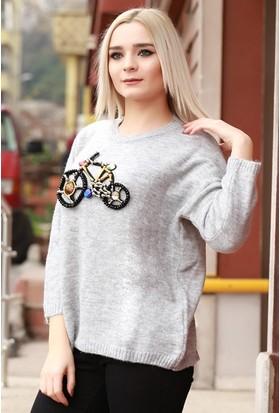 Zemin Giyim Bisikletli Kazak-5971