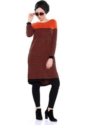 Zemin Giyim Çizgili Tunik-5523