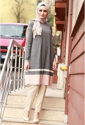 Zemin Giyim Pliseli Elbise-5901