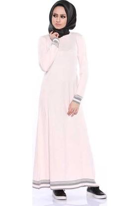 Zemin Giyim Piliseli Uzun Elbise-5865