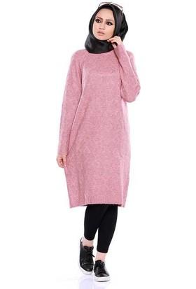 Zemin Giyim Yaka Çizgili Elbise-5918