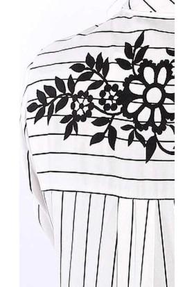 Zemin Giyim Çizgili Gömlek-5304