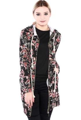 Zemin Giyim Çiçekli Trench-5587