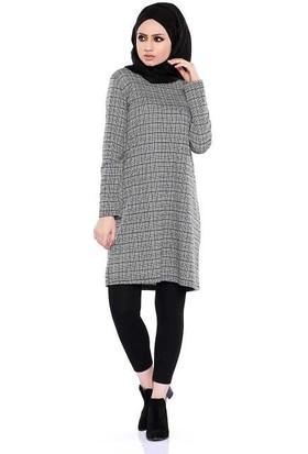 Zemin Giyim Kareli Tunik-2594