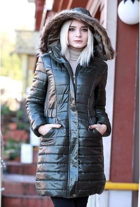 Zemin Giyim Uzun Şişme Mont-1002