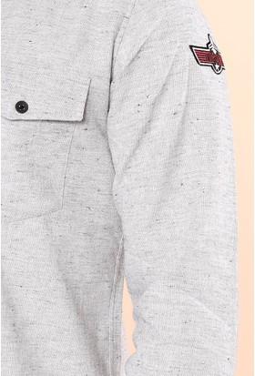 Zemin Giyim Çift Cep Kapaklı Armalı Gömlek-Meg1365
