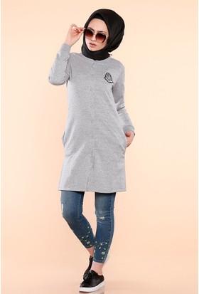 Zemin Giyim Göğsü Armalı Önü Çıtçıtlı Tunik-7294
