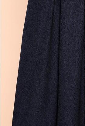 Zemin Giyim Yün Efect Pileli Etek-784