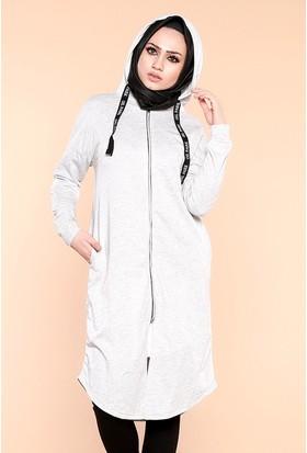 Zemin Giyim Kapüşonlu Tunik-7098