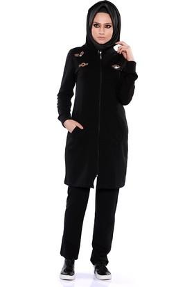 Zemin Giyim Likralı Kadın Eşofman Takımı-95146