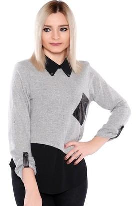 Zemin Giyim Deri Cepli Gömlek-5002