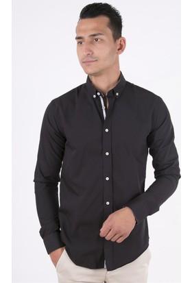 Barney Klasik Siyah Gömlek
