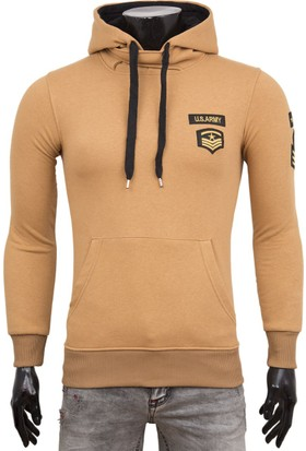 Madmext Armalı Camel Sweatshirt 1782
