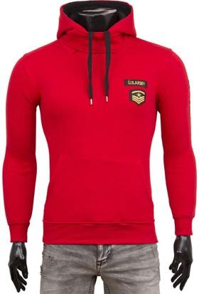 Madmext Armalı Kırmızı Sweatshirt 1782