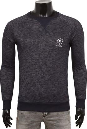 Madmext Armalı Detaylı Lacivert Sweatshirt 1574