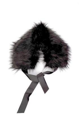 Clé Siyah Kürk Boyunluk