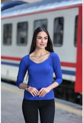 Stil Town Altıgen Yaka Bluz