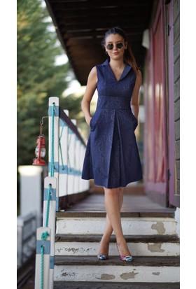 Stil Town Kolsuz Jakar Elbise