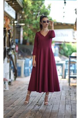 Stil Town V Yaka Elbise