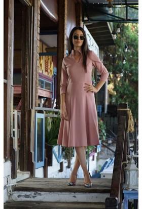 Stil Town Dik Yaka Elbise