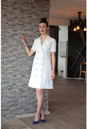 Stil Town Blazer Elbise