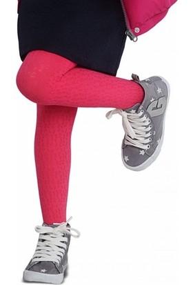 Penti Irene Desenli Kız Çocuk Kilotlu Çorap Mercan