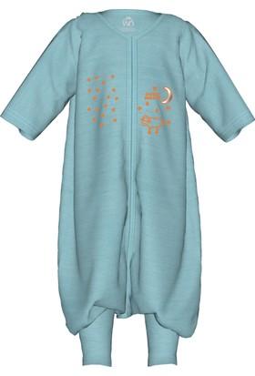 Woolnat Terletmeyen Merino Yün Uzun Kollu Çocuk Uyku Tulumu