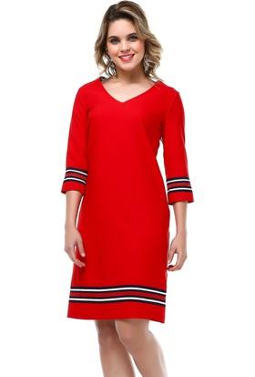B&S Line Sırt Detaylı Kırmızı Elbise