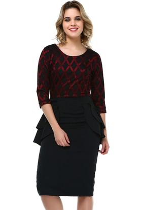 B&S Line Kırmızı Dantelli Elbise