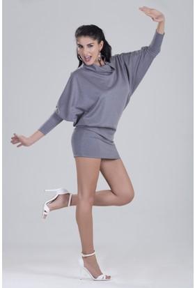 Zeynep Deniz Dorothy Yarasa Kollu Tunik - Elbise