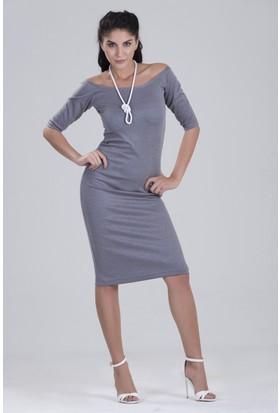 Zeynep Deniz Dory Dansçı Yaka Truvakar Kollu Elbise