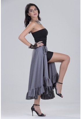 Zeynep Deniz Sera Fırfırlı Çingene Etek - Elbise