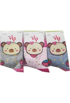 Lababy Renkli Kız Bebek Çorap 3'lü Paket