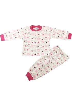 Babycan Ayıcık Desenli Çocuk Pijama Takımı Fuşya 1 - 3 Yaş