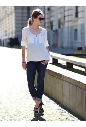 Colline Hamile ve Emzirme Beyaz Bluz