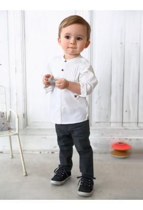 Vertbaudet Erkek Bebek Beyaz Gömlek