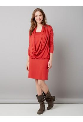 Colline Hamile Kırmızı Emzirme Elbisesi