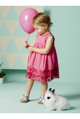 Vertbaudet Kız Bebek Pembe Elbise