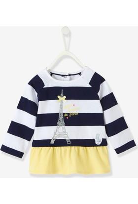 Vertbaudet Kız Bebek Sarı Fırfırlı Bluz