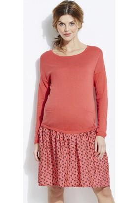 Colline Hamile Somon Rengi Elbise