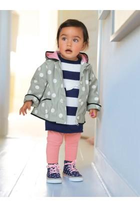 Verrtbaudet Kız Bebek Puanlı Yağmurluk