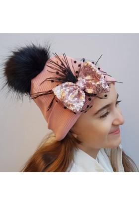 Babygiz Fiyonklu Ponpon Şapka Ns0152