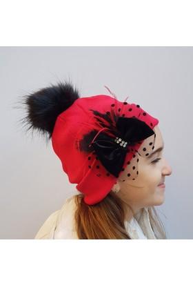 Babygiz Fiyonklu Ponpon Şapka Ns0160