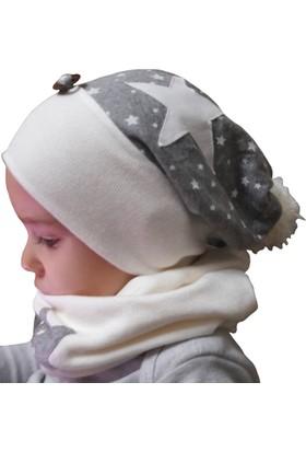 Babygiz Erkek Şapka Boyunluk Takım Nsb023