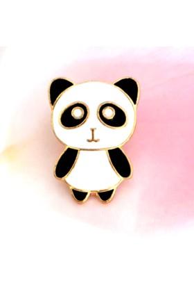 Popvitrin Kadın Liya Sevimli Metal Panda Broş
