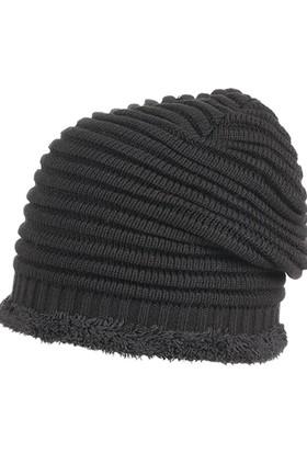 Suyutti Erkek Kürklü Bere Kışlık Siyah 7741