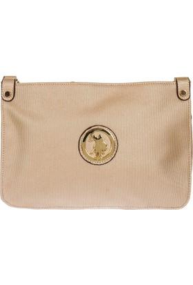 U.S. Polo Assn. Çapraz Bayan Çantası Altın 17176