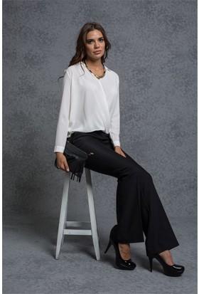 Jument 2232 Siyah İspanyol Kadın Pantolon