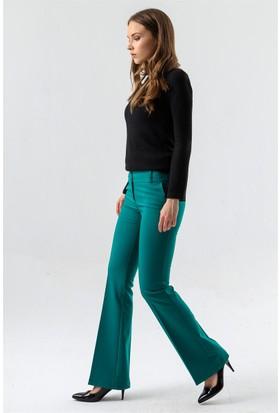 Jument 2232 Yeşil İspanyol Kadın Pantolon
