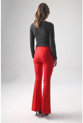 Jument 2412 Kırmızı Kadın Pantolon